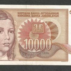 IUGOSLAVIA 10000 10.000 DINARI 1992 VF [13] P-116a - bancnota europa