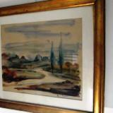 Acuarela semnat Sorin Ionescu - Pictor roman, Peisaje, Impresionism