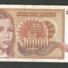 IUGOSLAVIA 10000 10.000 DINARI 1992 [15] P-116a - bancnota europa