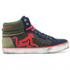 Adidasi Drunknmunky.model Boston Nettuno C141/Olive/Red - Adidasi barbati Drunknmunky, Marime: 40, Culoare: Din imagine, Piele sintetica