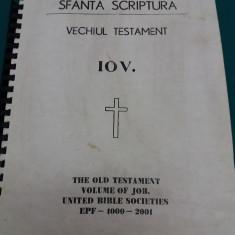 SFÂNTA SCRIPTURĂ/VECHIUL TESTAMENT /IOV/ ÎN ALFABETUL BRAILLE/2001