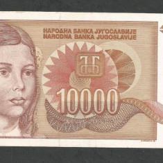 IUGOSLAVIA 10000 10.000 DINARI 1992 XF+ [4] P-116b, fara punct - bancnota europa