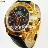 Rolex Daytona Leather Strap ! ! ! Super Pret ! Calitate Premium ! CUTIE CADOU ! - Ceas barbatesc Rolex, Lux - elegant, Mecanic-Automatic, Inox, Piele, Ziua si data