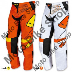 MBS Pantaloni motocross copii Ufo Iconic, galben, 38, Cod Produs: PI04380D38 - Imbracaminte moto