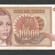 IUGOSLAVIA 10000 10.000 DINARI 1992 [9] P-116a, VF+ - bancnota europa