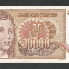 IUGOSLAVIA 10000 10.000 DINARI 1992 [2] P- 116a, XF+ - bancnota europa