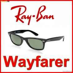 Ochelari Soare RAY BAN Wayfarer - Ochelari de soare Ray Ban, Unisex, Maro, Plastic