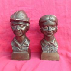 Bust Bronz - Hansel and Gretel - Bronz masiv !!! - Metal/Fonta, Ornamentale