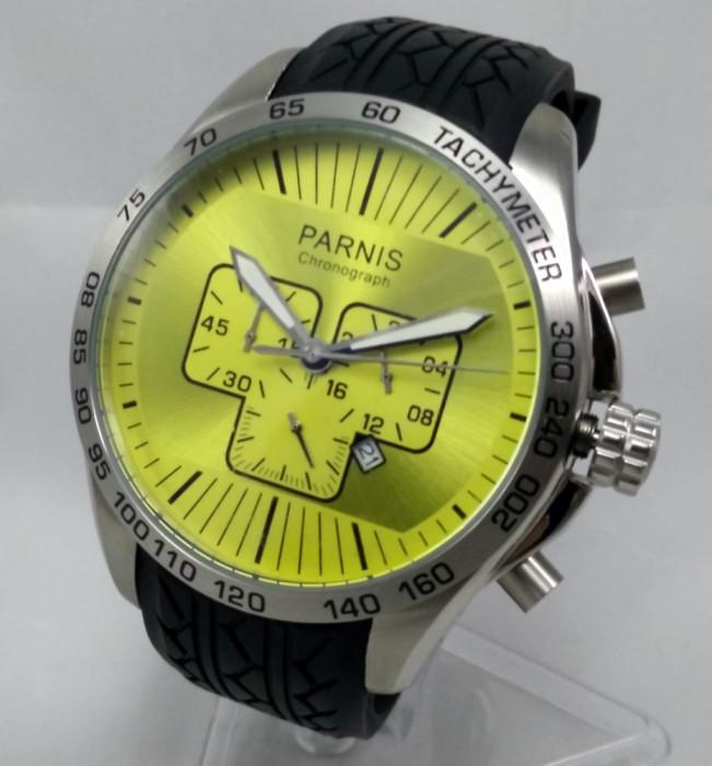 Cumpără cel mai mic pret salvați Ceas mana sport barbatesc Parnis Jumbo 48mm tahimetru/cronograf ...