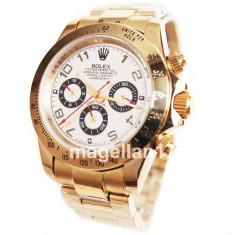 Rolex Daytona Golden Case White Dial Automatic ! Calitate Premium ! CUTIE CADOU - Ceas barbatesc Rolex, Lux - elegant, Mecanic-Automatic, Inox, Ziua si data