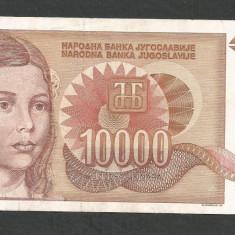 IUGOSLAVIA 10000 10.000 DINARI 1992 XF [3] P-116a - bancnota europa