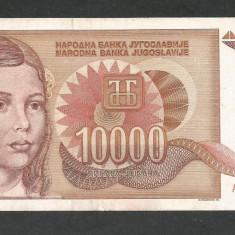 IUGOSLAVIA 10000 10.000 DINARI 1992 [8] P-116a, VF+ - bancnota europa