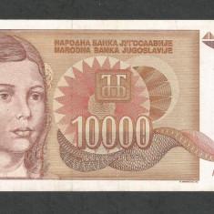 IUGOSLAVIA 10000 10.000 DINARI 1992 [7] P-116a, VF++ - bancnota europa