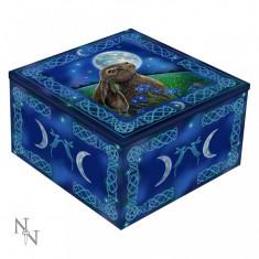Cutie bijuterii cu oglindă Iepuraș sub clar de lună