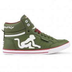 Adidasi Drunknmunky.model Boston Classic C117/Olive Green - Adidasi barbati Drunknmunky, Marime: 43, Culoare: Din imagine, Piele sintetica