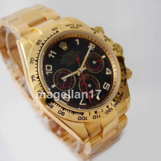 Rolex Daytona Golden Case Black Dial Automatic ! Calitate Premium ! CUTIE CADOU - Ceas barbatesc Rolex, Lux - elegant, Mecanic-Automatic, Inox, Ziua si data