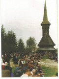 @ carte postala -GAUDEAMUS-MARAMURES-Sfintitul cosurilor la Paste-Obicei popular