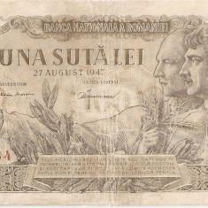 ROMANIA 100 LEI 27 AUGUST 1947 U - Bancnota romaneasca