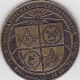 Medalie masonica Marea Loja Nationala 11 oct 6001 Tg Mures
