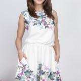 Rochie cu buzunare - Milena Platek - art. MP133 alb floral