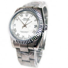 Rolex DateJust Silver Automatic ! ! ! Super Pret ! Cutie Cadou ! ! ! - Ceas barbatesc Rolex, Lux - elegant, Mecanic-Automatic, Inox, Data