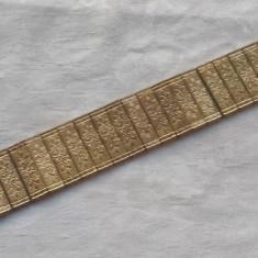 Bratara lata art nouveau 1920 Splendida placata cu aur Eleganta de Efect Vintage