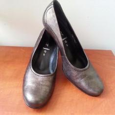Superbi Pantofi piele Gabor - Pantof dama Gabor, Culoare: Gri, Marime: 38.5, Cu toc