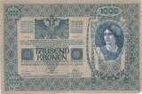 AUSTRIA UNGARIA 1000 COROANE KRONEN 1902 F FARA SUPRATIPAR