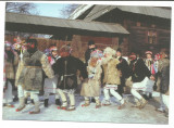 @ carte postala-GAUDEAMUS-NEAMT-Hora frumosilor-Obicei popular, Necirculata, Printata