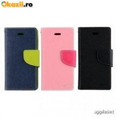 Husa Allview V1 Viper S Flip Case Inchidere Magnetica Albastra, Alt model telefon Allview, Albastru, Piele Ecologica