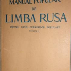 Manual popular de limba rusa ciclul I = an 1952/233pag