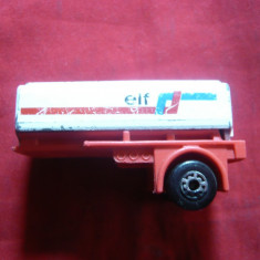Remorca Cisterna Elf - Matchbox, scala 1/135, metal, L= 5, 5 cm