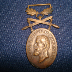 Decoratie militara romaneasca BARBATIE si CREDINTA Romania Regalista