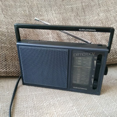 Radio portabil vintage Grundig Prima Boy 65K, impecabil. - Aparat radio
