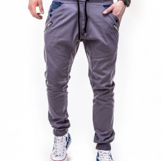 Pantaloni barbati insertii camuflaj p301 gri, Marime: S, M, XXL, Lungi, Bumbac
