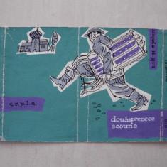 GRAFICA VAL MUNTEANU- DOUASPREZECE SCAUNE, macheta coperta carte - Pictor roman, Abstract, Guasa