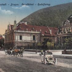 BRASOV, RUDOLFSRING, AUTOMOBIL DE EPOCA, TRASURI - Carte Postala Transilvania 1904-1918, Necirculata, Printata