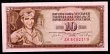IUGOSLAVIA 10 DINARA DINARI 1968 UNC necirculata **