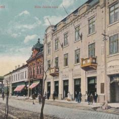 SATU MARE, STRADA HAM JANOS, RESTAURANT, CIRCULATA 1917 - Carte Postala Maramures 1904-1918, Printata