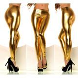 Colanti dama wet look latex aurii metalic luciosi disco club auriu gold, Argintiu, universala, Normali