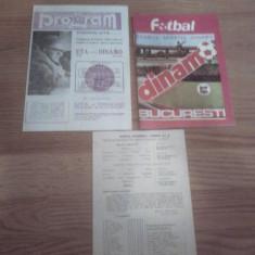 Dinamo Bucuresti...Programe, Reviste, Bilete, Steag, Emblema!!! - Program meci
