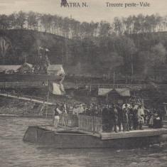 PIATRA NEAMT , TRECERE PESTE VALE , FOTO L. STEINBERG, Necirculata, Printata