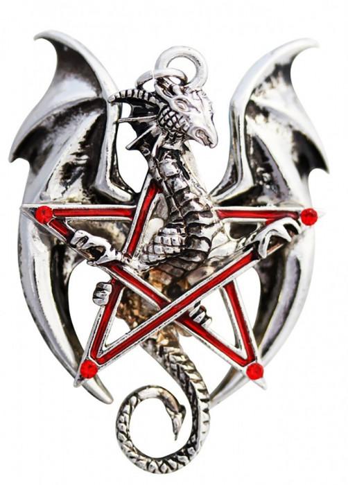 Pandantiv dragon în pentagramă Pentadraca foto mare