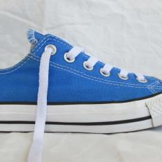 Tenisi Converse All Star originali de panza, marimea 37.5 EUR (24 cm) - Tenisi dama, Culoare: Albastru