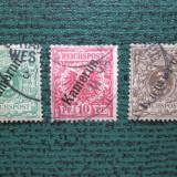 TIMBRE GERMANIA OCUPATIA =KAMERUN=3 VALORI UZUALE, Stampilat