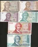 Bnk bn croatia lot 6 bancnote diferite , unc