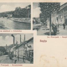 RESITA, GALERIA EREDITARA, STRADA PRINCIPALA, MAGAZINE - Carte Postala Banat dupa 1918, Necirculata, Printata