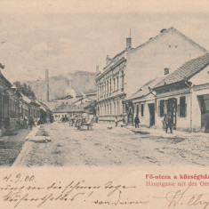 RESITA, STRADA PRINCIPALA, PRIMARIA, CLASICA, CIRCULATA 1900 - Carte Postala Banat pana la 1904, Printata