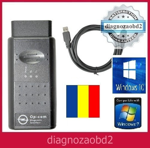 Interfata diagnoza tester auto OP.COM Opel  ~ lb.  ROMANA 2010 si ENGLEZA  2014