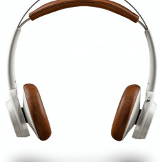 Casti Bluetooth Plantronics BackBeat SENSE, White, Casti On Ear, Active Noise Cancelling